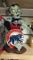 Chicago Cubs Team Zombie on Logo Figure MLB