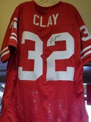 John Clay Custom Autographed Jersey EX Badgers