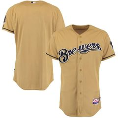 Milwaukee Brewers Authentic Gold Button Jersey