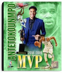 Giannis Antetokounmpo 16x20 MVP Canvas Print Officially Licensed