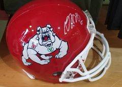 Green Bay Packers Davante Adams Autographed Full Size Fresno State Helmet