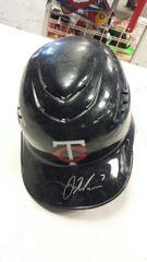 Joe Mauer Minnesota Twins Autographed Full Size Team Issued Hemet JSA