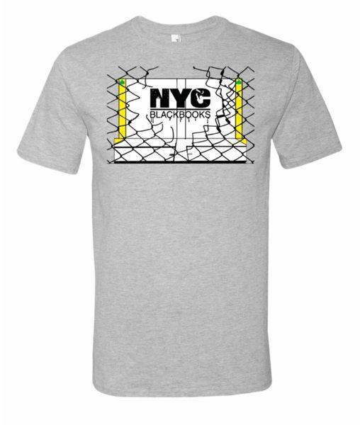 """NYC BLACKBOOKS """"HANDBALL COURT"""" TSHIRT"""