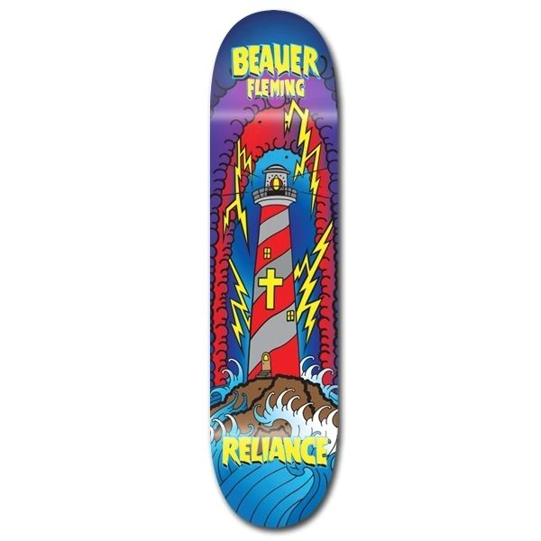 Reliance Beaver Lighthouse Skateboard Deck RBLS001