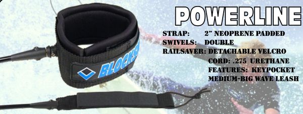 Blocksurf Powerline Surfboard Leash BPSL001