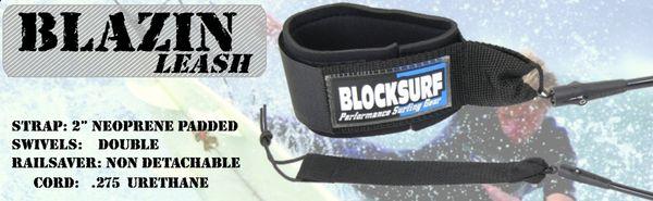 Blocksurf Blazin Surfboard Leash BBSL001