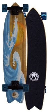 Paradise Sunset Wave Bamboo Complete Longboard PSWB001