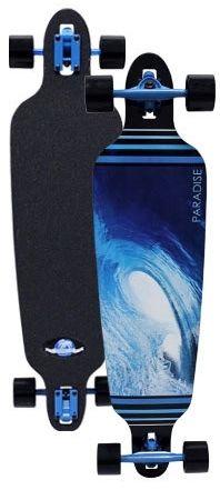 Paradise Barrell Wave 2 Drop Through Complete Longboard PBWD001