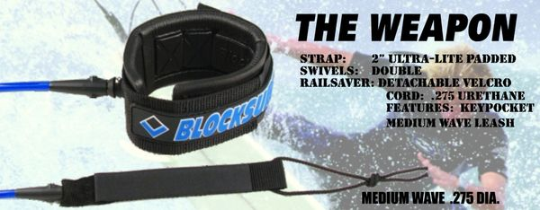 Blocksurf The Weapon Surfboard Leash BTWS001
