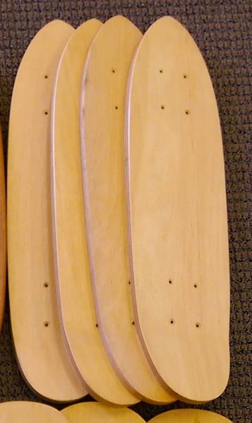1970's Wood Mini Kick Tail Cruiser Skateboard Deck WMKT001