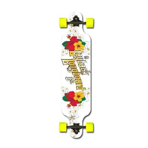 Layback Hibiscus Drop Complete Longboard LHDC001