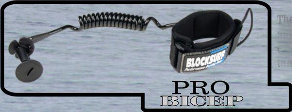 Blocksurf Pro Bicep Bodyboard Surfboard Leash BPBB001