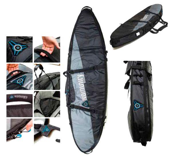 Komunity Project Armour Double Lightweight Traveller Surfboard Bag KADL001