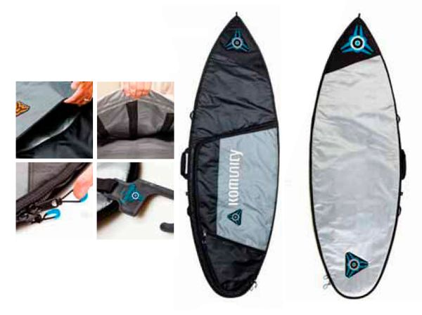 Komunity Project Armour Single Lightweight Traveller Surfboard Bag KASL001