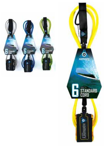 Komunity Project Standard Cord Surfboard Leash KPSC001