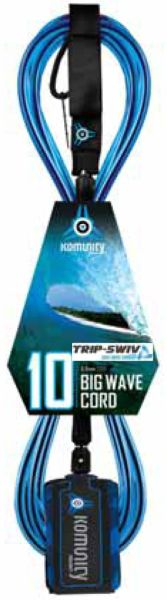 Komunity Project Big Wave Trip-Swiv 10 Surfboard Leash KPBW002