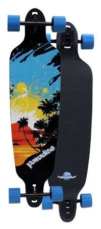 Paradise Sun Splash Drop Through Complete Longboard PSSD001