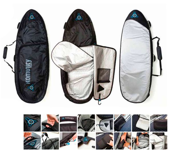 Komunity Project Armour All Rounder Triple/Quad Lightweight Surfboard Bag KAAT001