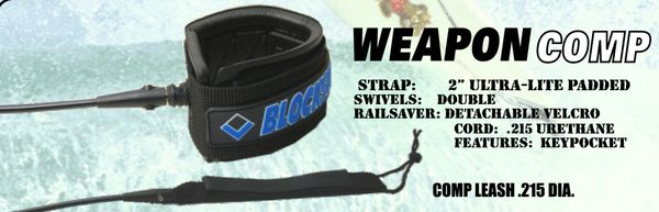 Blocksurf Weapon Comp Surfboard Leash BWCS001