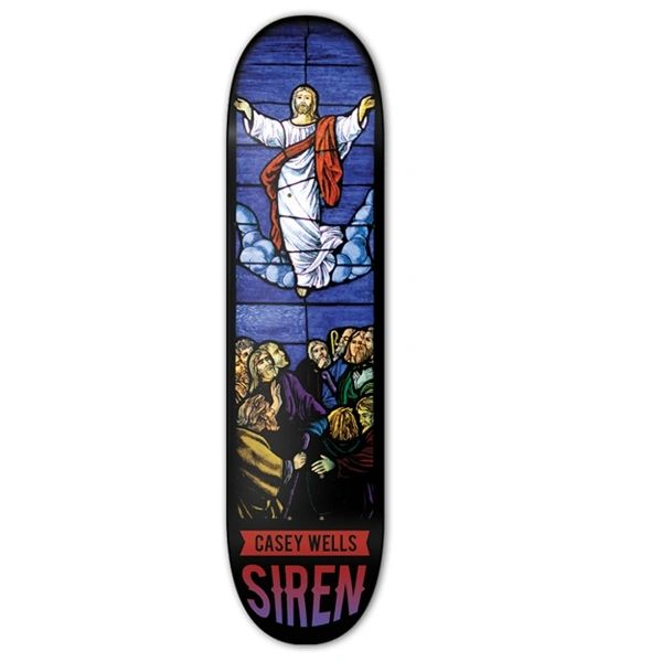 Siren Casey Wells Stained Glass Skateboard Deck SCWS002