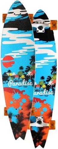 Paradise Hideaway Harbor Fishtail Complete Longboard PHHF001