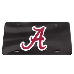 License Plate, Alabama, Black/Red