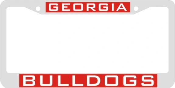 License Plate Frame, Georgia Bolldogs