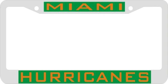 License Plate Frame, Miami Hurricanes