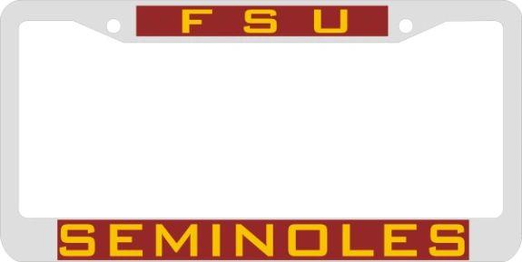 License Plate Frame, Florida State Seminoles