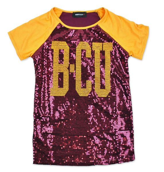 Tee Shirt, Sequin, Bethune Cookman, Female