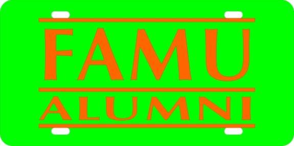License Plate, FAMU ALUMNI