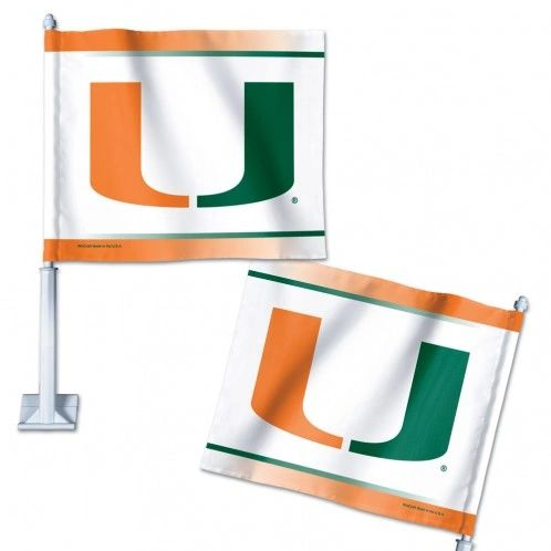 Car Flag, Miami Hurricanes