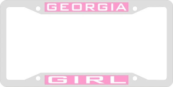 License Plate Frame, Georgia Girl