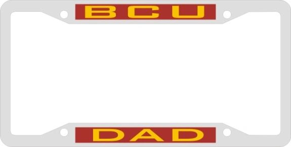 License Plate Frame, BCU DAD