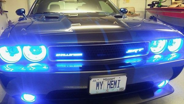White Dodge Challenger >> Charger SRT and Challenger SRT illuminated badge | X-Lume illuminated Car Products