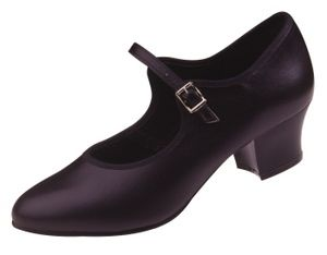"LEATHER BAR SHOE 1.5"" HEEL"