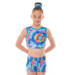 METEOR CROP TOP / HIPSTER SHORTIES SET