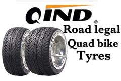Qind Da Tyre 185-30-14 Road Legal Quad Bike Tyres