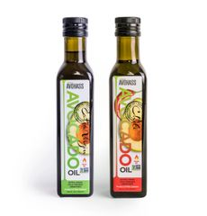 2 Pack Avohass New Zealand Extra Virgin Avocado Oil & Avohass New Zealand Chili Extra Virgin Avocado Oil, Non-GMO Project Verified, (2) 8.5 fl. oz. Bottles. Expiration Date Jan 31, 2022. Free Shipping within USA.