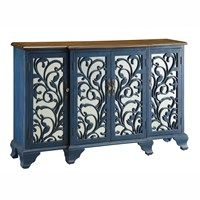 Hawthorne Blue Mirrored Sideboard Furniture Gallery