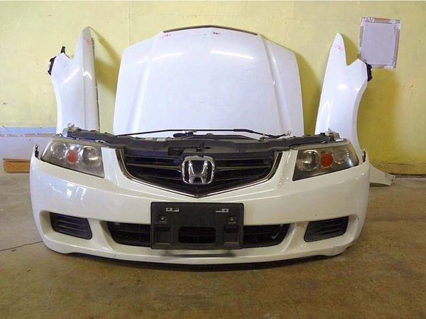 HONDA ACCORD EUROR ACURA TSX WHITE FRONT END NOSE CUT CONVERSION - Acura tsx euro r