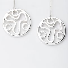 YANA Symbol In Circle Drop Earrings
