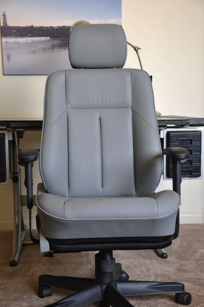 SOLD Thank You! - Mercedes-Benz C230 Leather Office Chair - Gray