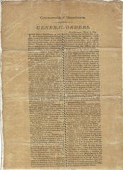 Early MA Militia Broadsides Establish Strong Military Force With General Orders