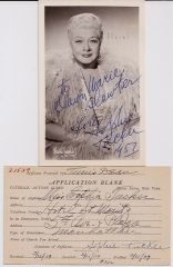 Sophie Tucker -- Last of the Red Hot Mamas -- Photograph, Guild Application