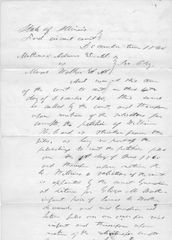 Lincoln Campaign And Estate Manager David Davis Signs Legal Document