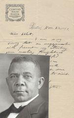 Ex-Slave Booker T. Washington Autograph Letter Signed -- Declines Speaking Invitation