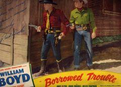 Rand Brooks Inscribed Lobby Card -- Borrowed Time