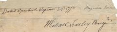 1776 Ipswich, MA, Revolutionary War Dated Signature of Brig. Gen. Michael Farley