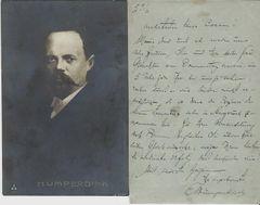 German Composer Englebert Humperdinck, ALS, Photo, Score